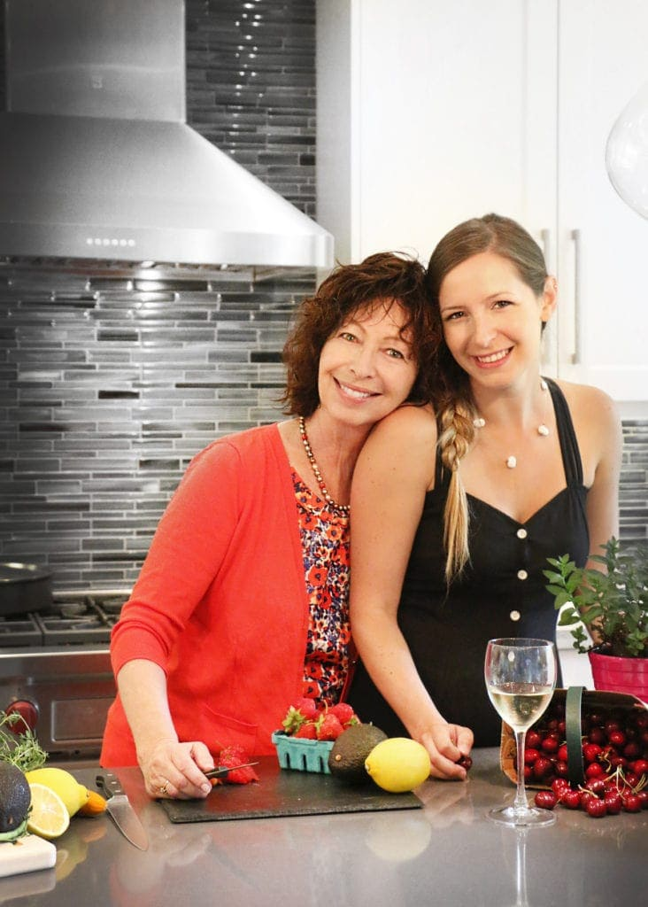 Cheryl and Jenna standing at kitchen counter