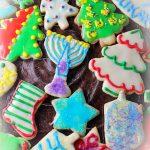 plate of christmas cookies
