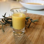 Butternut squash soup shots