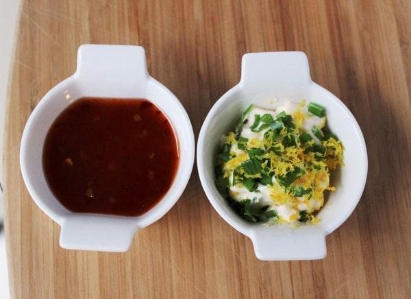 Thai and Lemon-mayo sauces