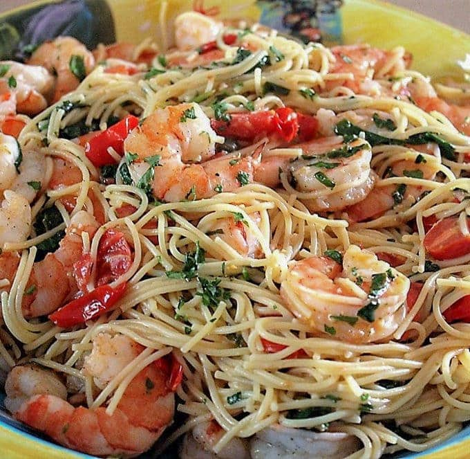 Lemon Pasta With Shrimp