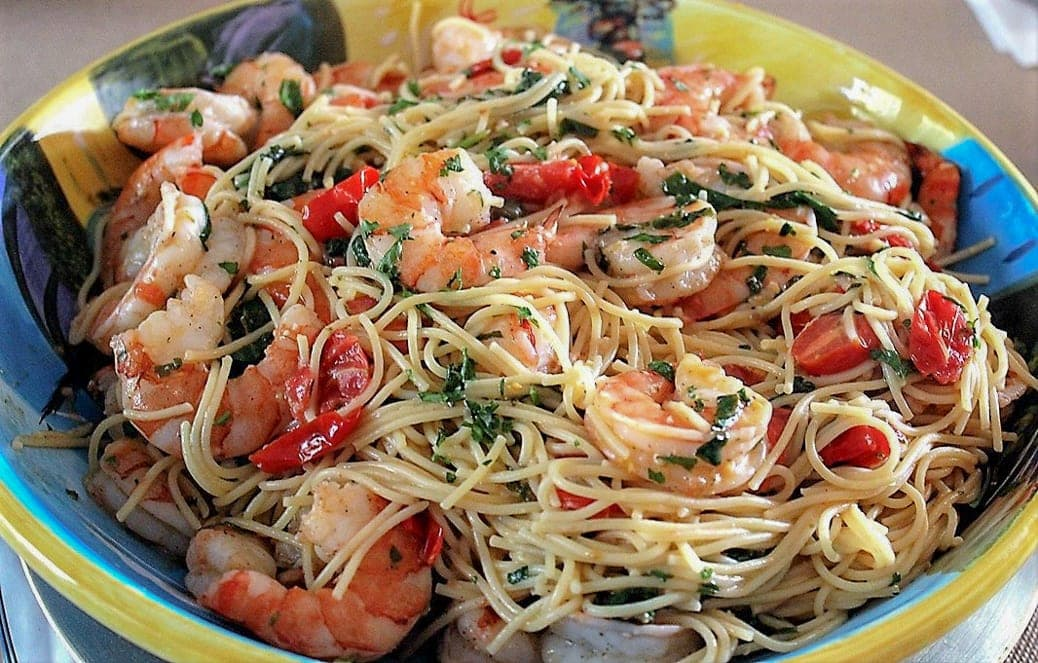 Lemon Pasta With Shrimp