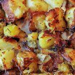 Crispy Oven Roasted Potatoes on pan