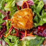 crusted Goat cheese on greens
