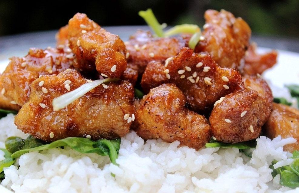 Honey Garlic Chicken or Beef