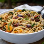 Mediterranean Pasta in bowl on table2