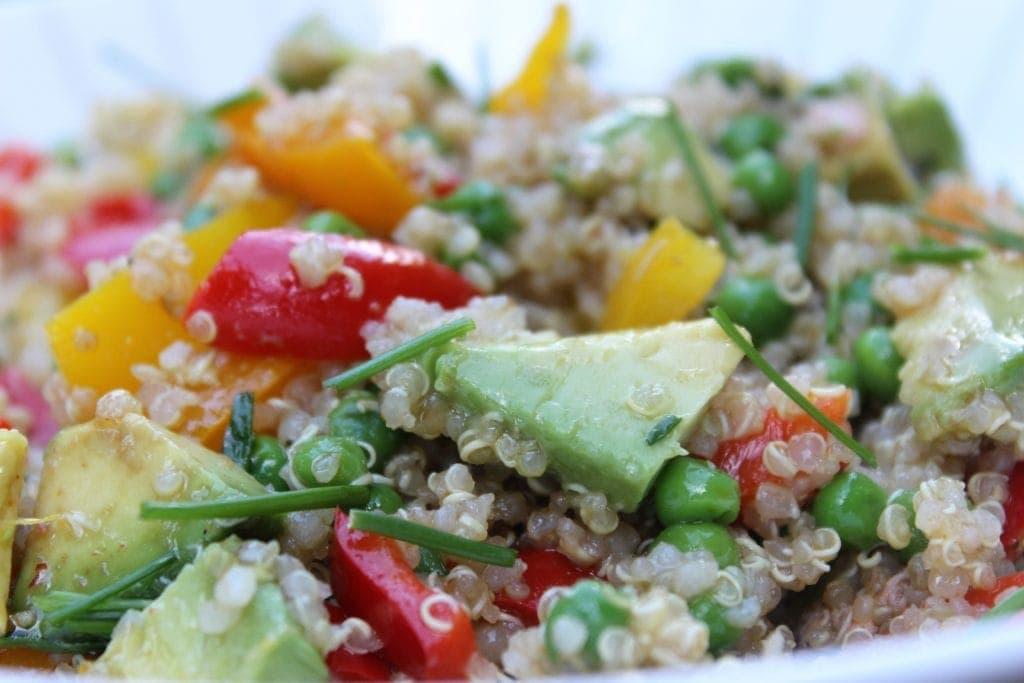 Rainbow Quinoa Stir Fry with Orange Vinaigrette