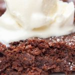 microwave brownie topped with ice cream p1