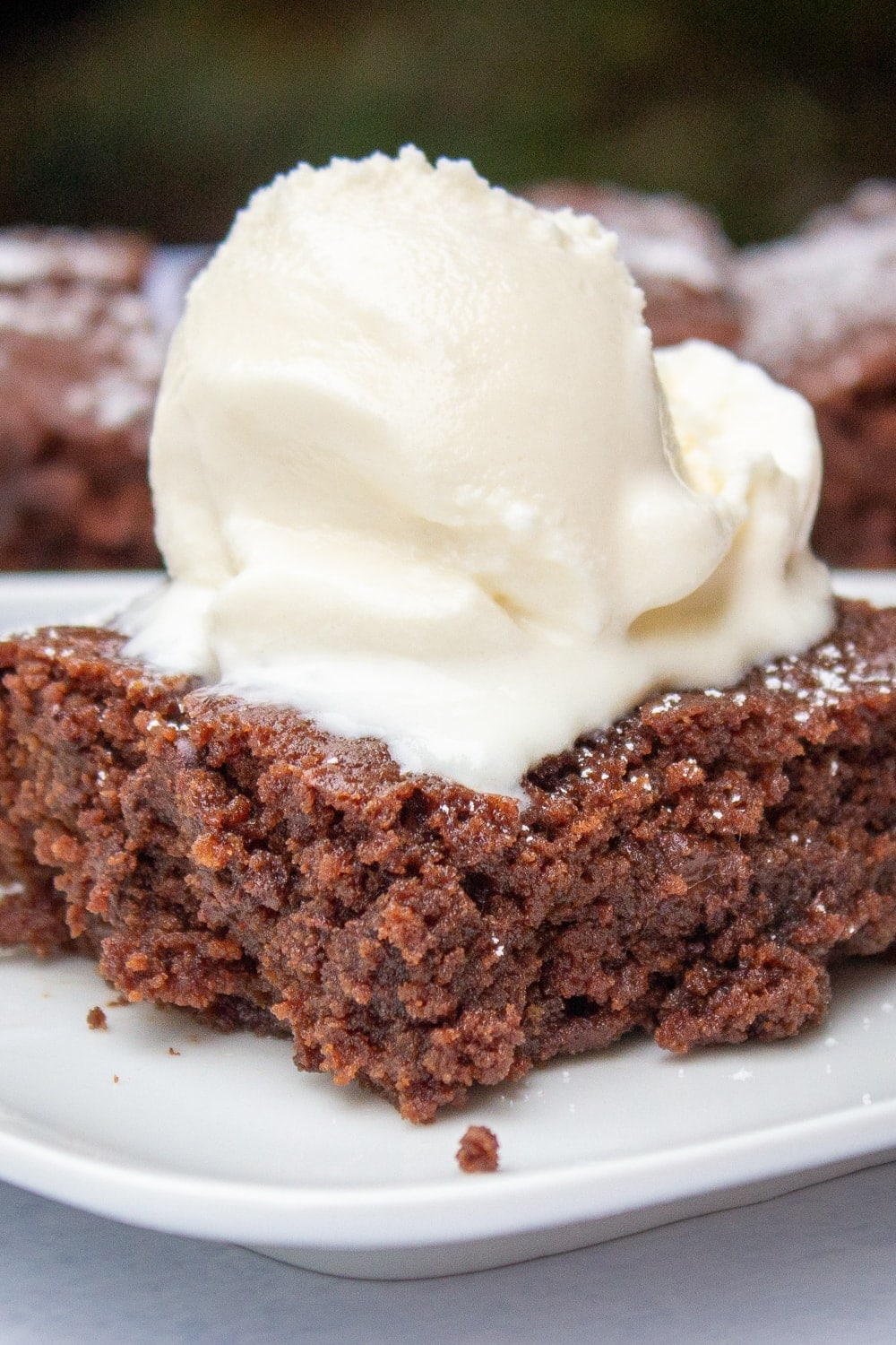 microwave brownie topped with ice cream p2