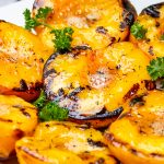 plate of grilled peaches p4