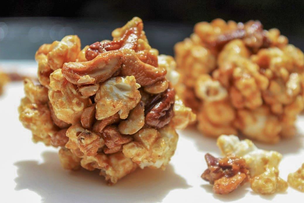 easy homemade caramel popcorn balls