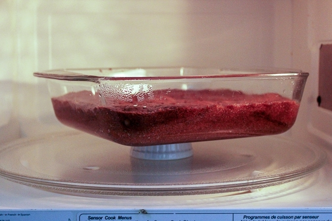 brownies 'baked' in Microwave