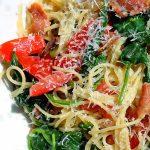 easy Spaghetti Carbonara on a plate p