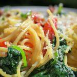 easy Spaghetti Carbonara on a plat p1