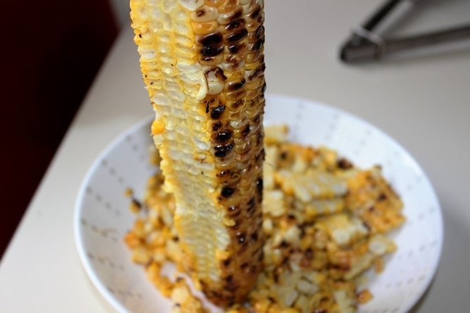 grilled corn with niblets removed
