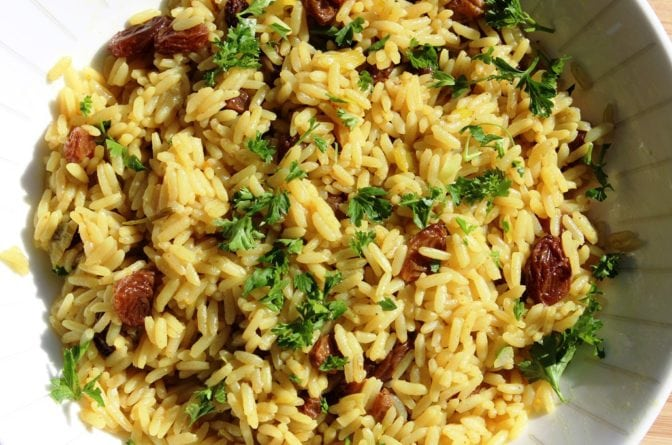 Curried Rice with Raisins