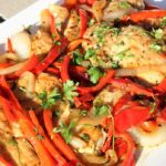 Chicken with Onions and Peppers