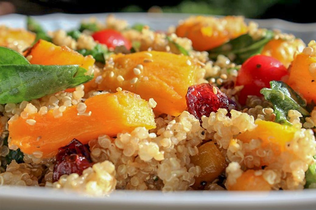 Quinoa and Glazed Butternut Squash salad