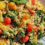 Quinoa and Glazed Butternut Squash salad on a platter p