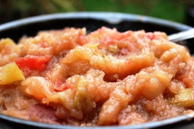 Homemade Chunky Applesauce