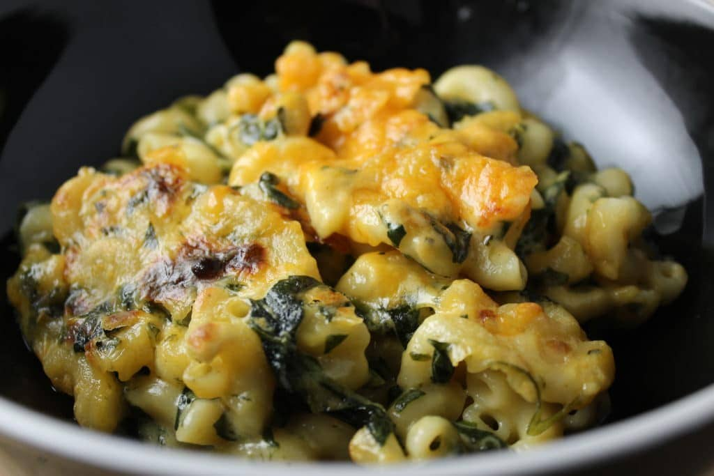 spinach macaroni and cheese