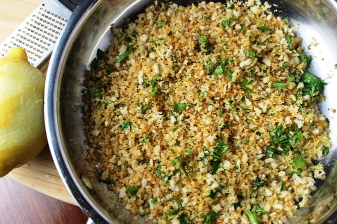 Panko crumbs with lemon and parsley