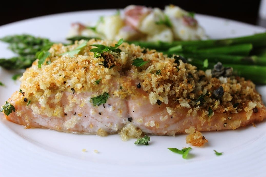 Lemon Panko-Crusted Salmon