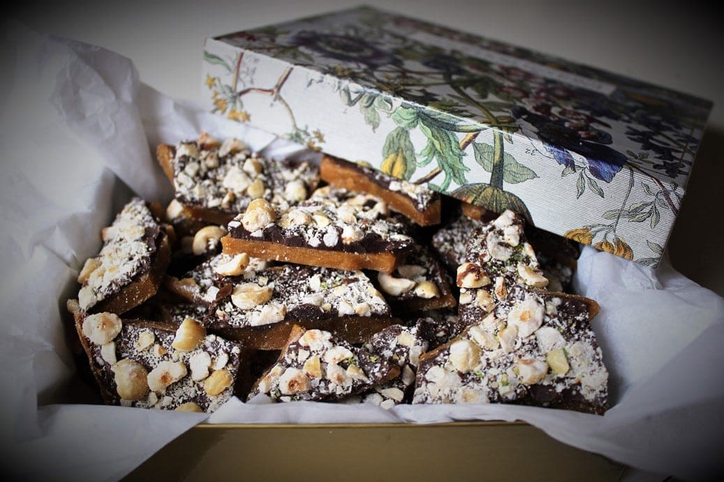 Chocolate Hazelnut Buttercrunch Toffee