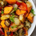 roasted vegetables in bowl p