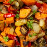 roasted vegetables in bowl p1