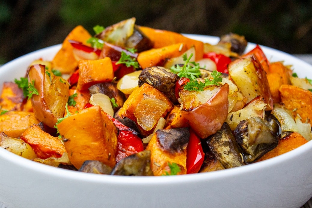 roasted vegetables in bowl 1