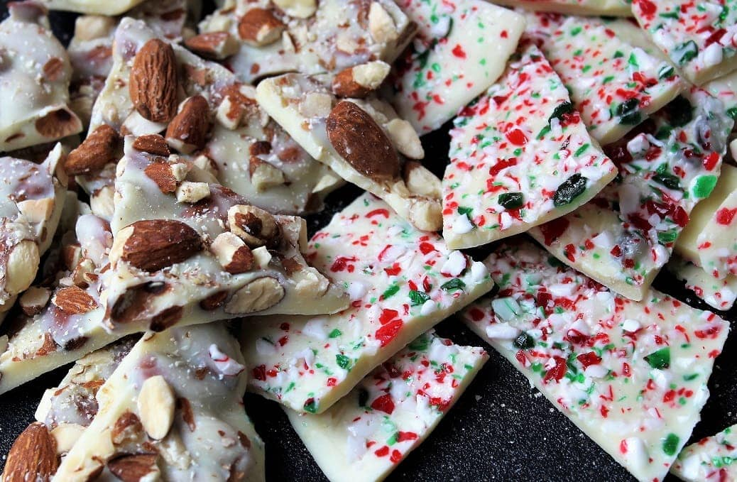 White Chocolate Bark (roasted almond; peppermint)