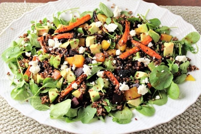 Red Quinoa with Roasted Carrots and Beets