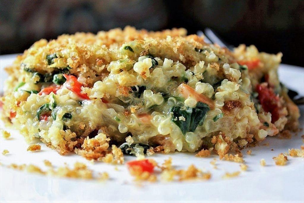 Veggie Quinoa Mac and Cheese on plate