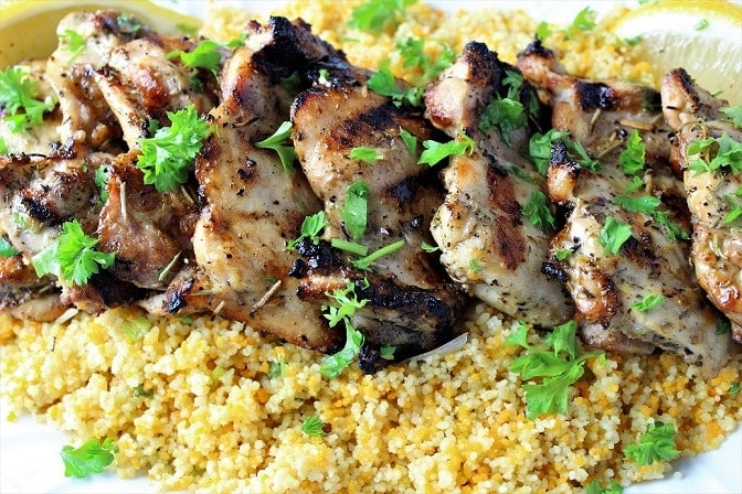 Mediterranean-style marinated chicken