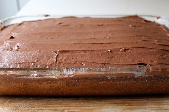 Banana Cake with Chocolate Buttercream Icing