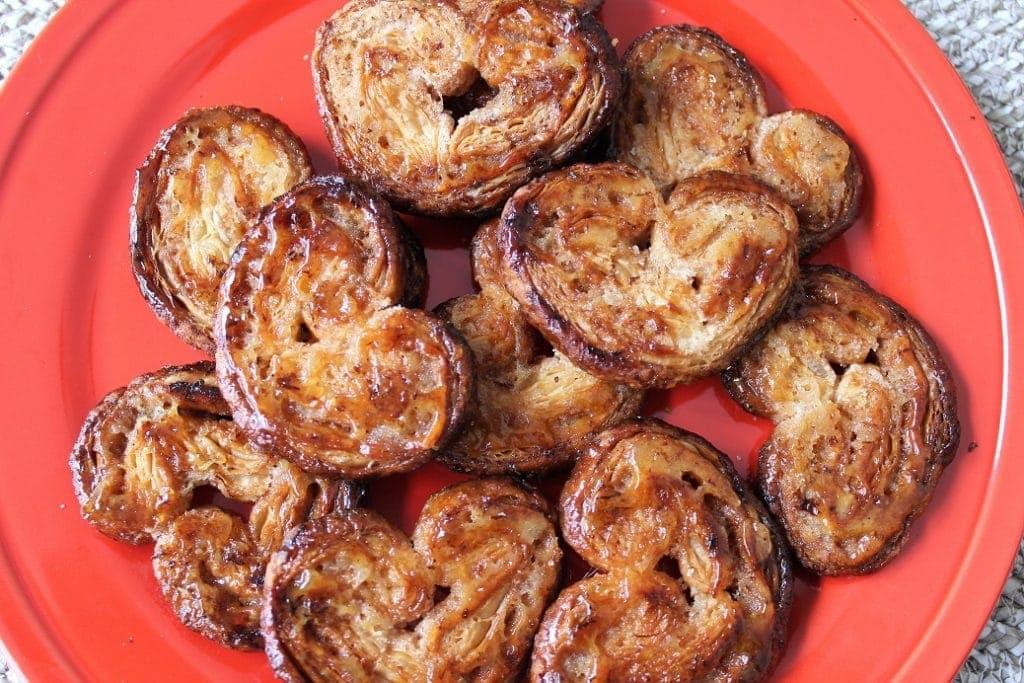 Citrus Palmier Hearts, sweet flaky pastries with lemon-orange zest