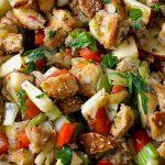 vegetarian stovetop stuffing in pan p
