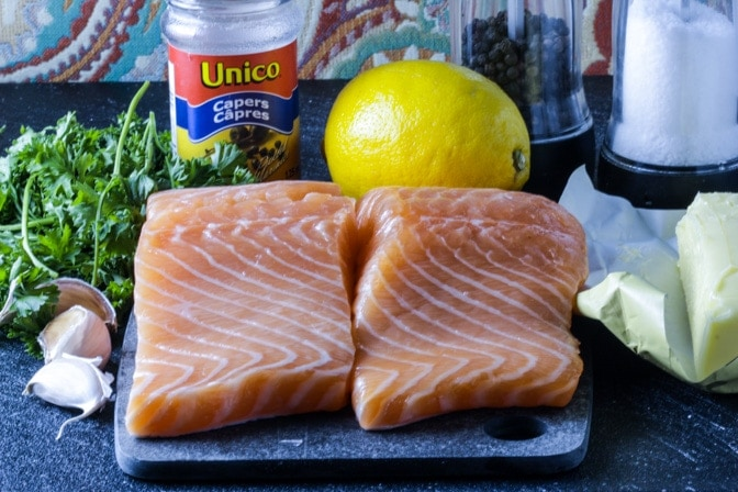 Sous Vide Salmon with Lemon Caper Sauce ingredients