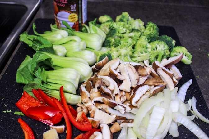 Kanokwan Curry Vegetables ingredients