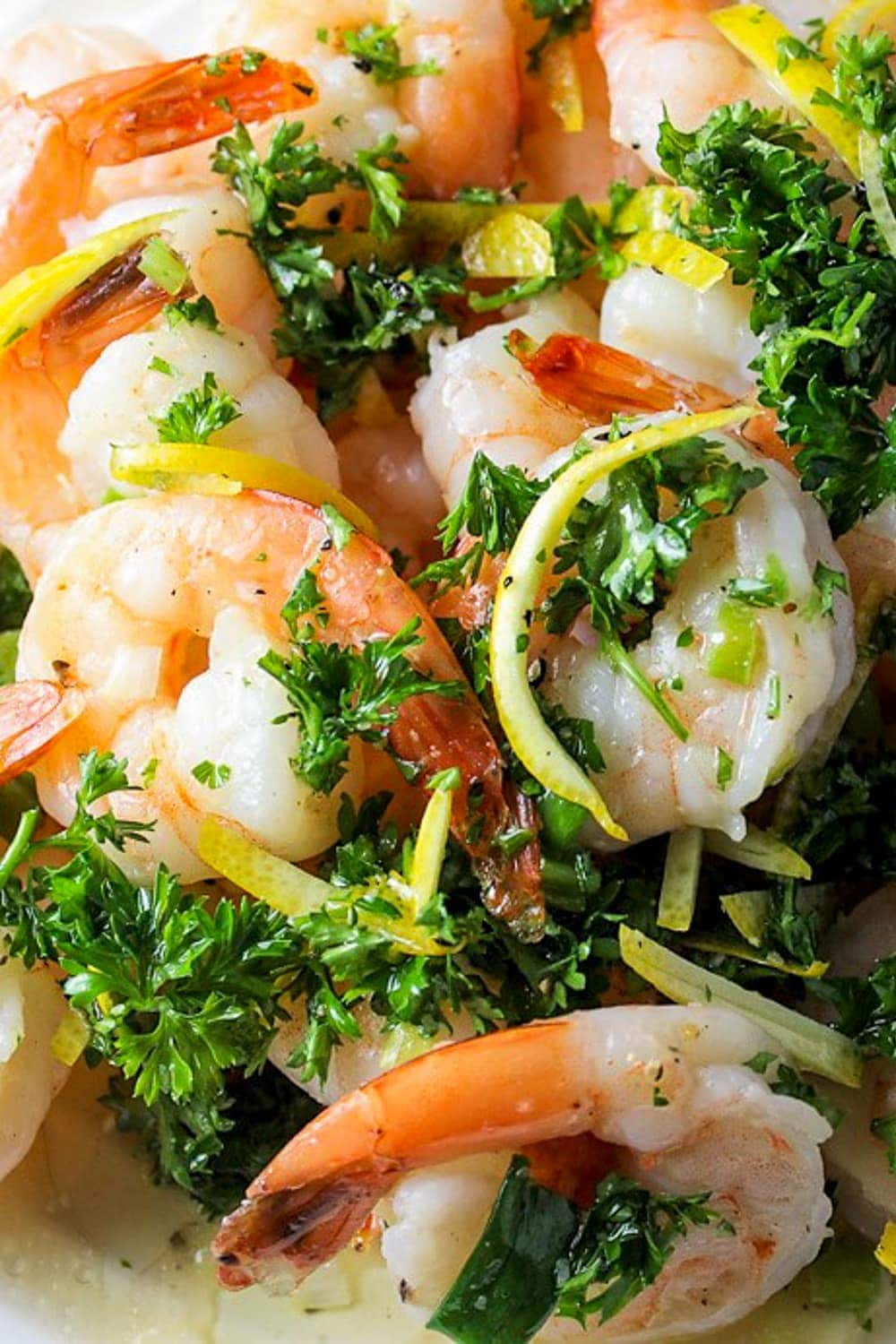 Roasted Shrimp with Gremolata Dressing on plate 3