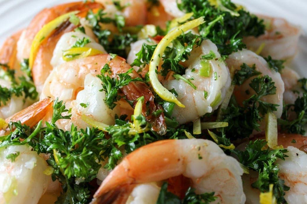 Easy Shrimp with Gremolata Dressing