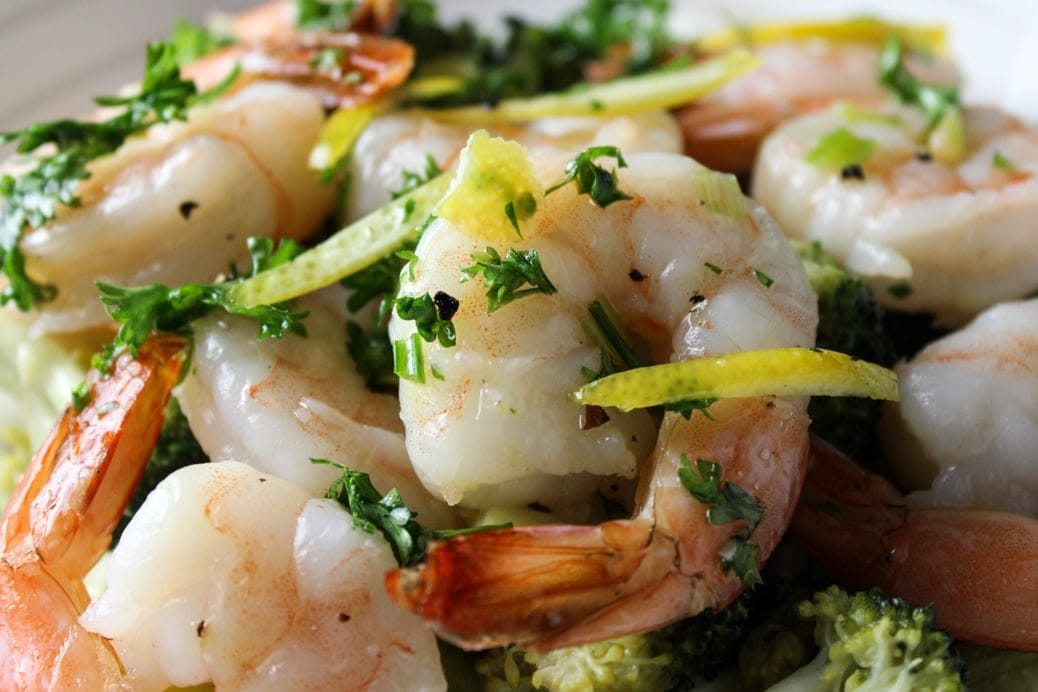 Easy Shrimp with Gremolata Dressing