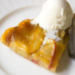 Simple Apple Tart with apples, puff pastry, butter and brown sugar