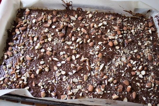 Famous Matzo Caramel Almond Crunch