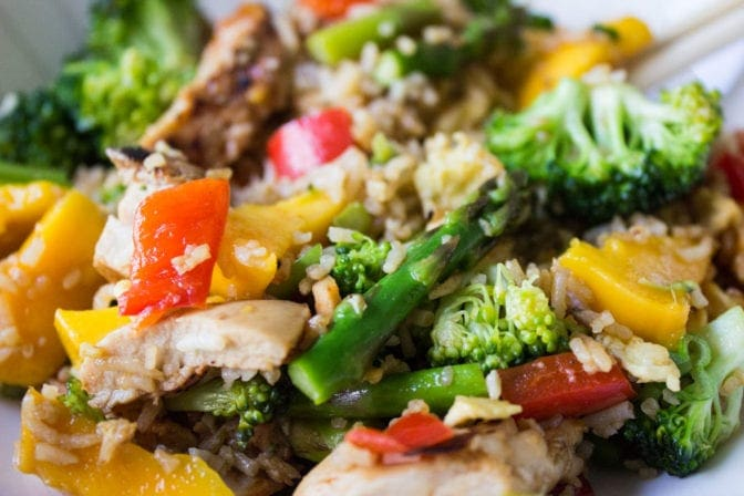 Vegetable & Grilled Chicken Fried Rice