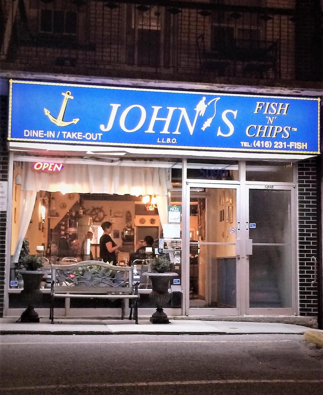 John 39 s fish n chips restaurant review dundas st w for Fish chips restaurant