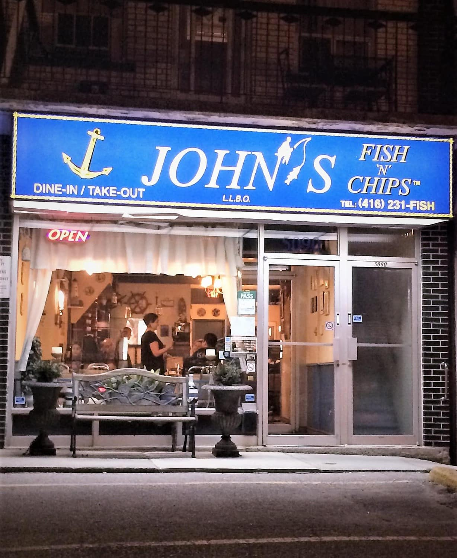 "Tiny Kitchen Fish And Chips: John's Fish ""N"" Chips Restaurant Review - Dundas St. W, Etobicoke"