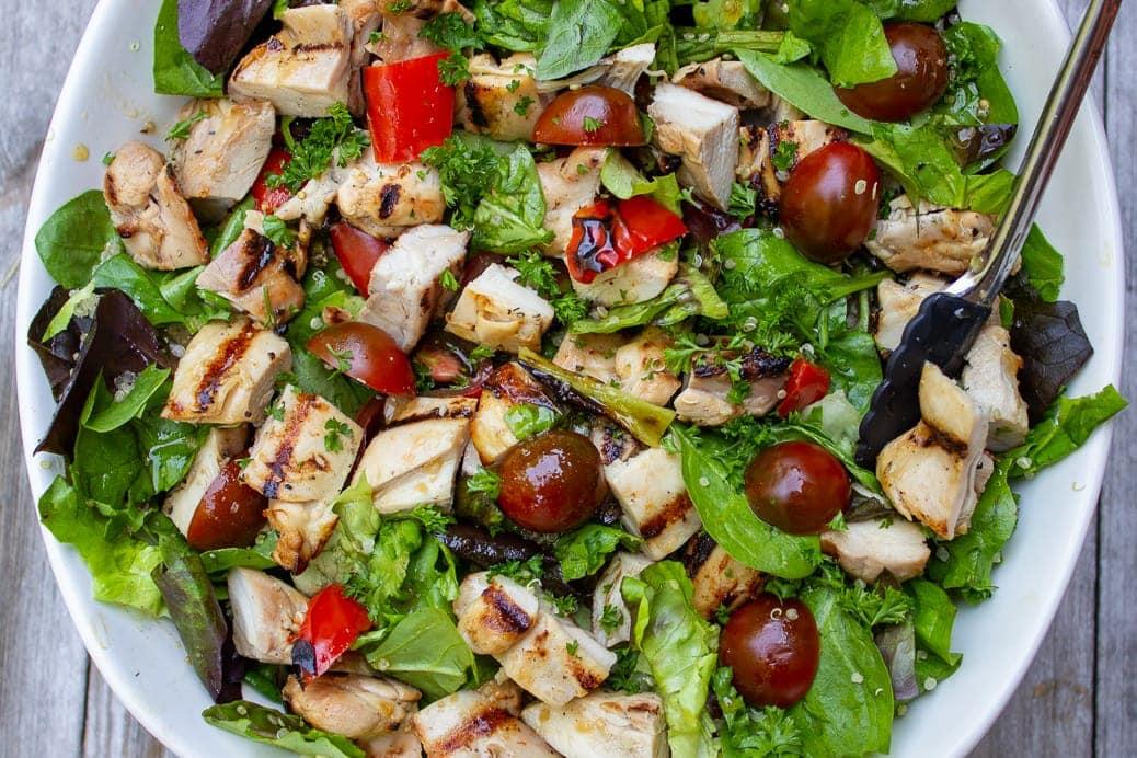 sesame lime chicken quinoa salad 2