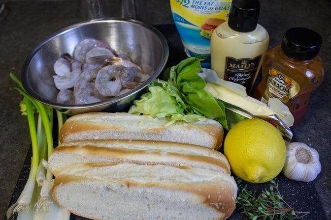 Grilled Shrimp Rolls ingredients
